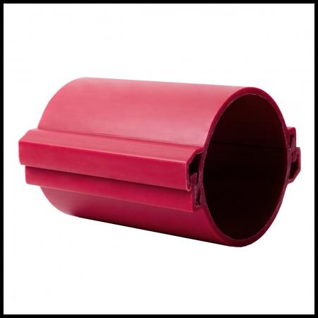 Tub rigid format din doua parti  pentru protectie cabluri subterane D 110mm Rosu Kopos