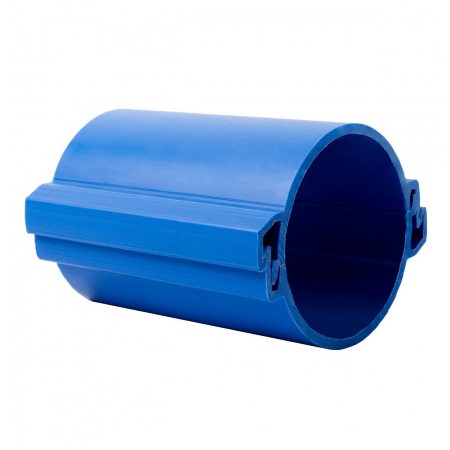 Tub rigid format din doua parti  pentru protectie cabluri subterane D 110mm Albastru Kopos