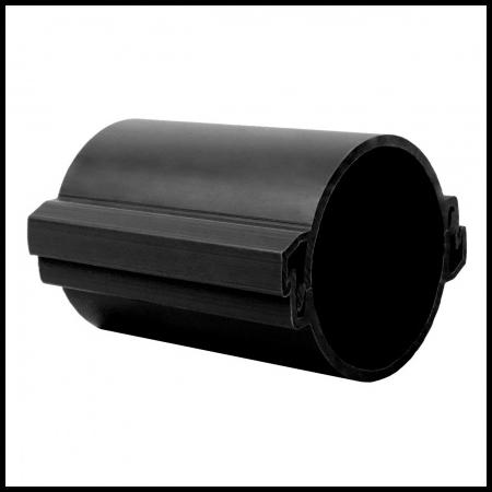 Tub rigid format din doua parti  pentru protectie cabluri subterane D 110mm Negru Kopos