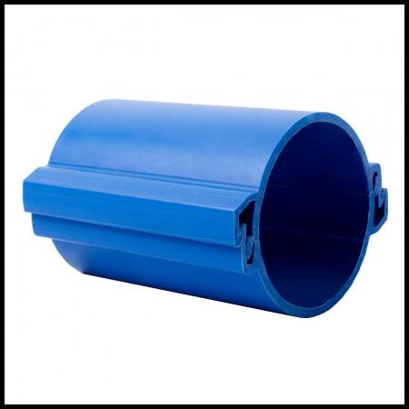 Tub rigid format din doua parti  pentru protectie cabluri subterane D 160mm Albastru Kopos