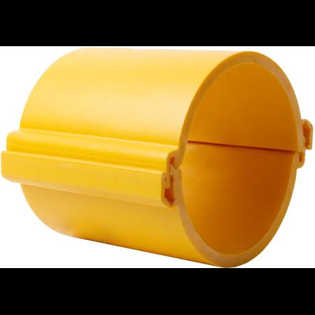 Tub rigid format din doua parti  pentru protectie cabluri subterane D 160mm Galben Kopos