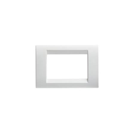 Placa ornament Virna - tehnopolimer gloss finish - 2 module- CLOUD WHITE - SYSTEM Gewiss