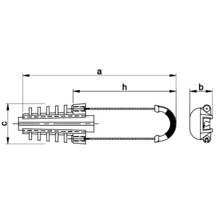 Armatura de intindere TSZK2-A 25-35mm2, 2.5-4 kV Tracon