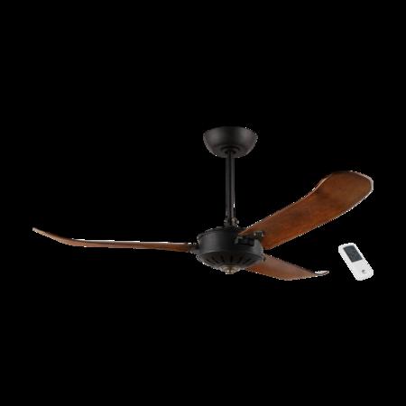 Lampa cu ventilator HOI AN negru matt 220-240V, 50Hz Eglo