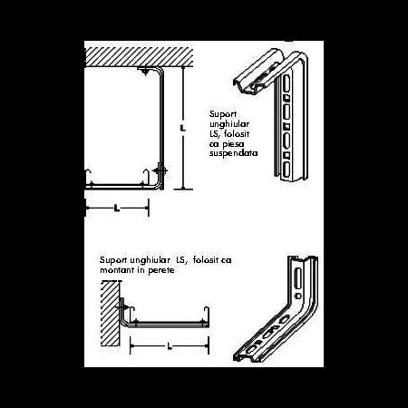 Suport unghiular de sprijin L-100mm Elvan