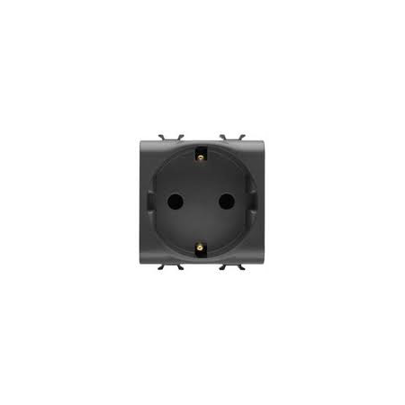 GERMAN STANDARD Priza 250V ac - 2P+E 16A - 2 MODULES - BLACK - CHORUS Gewiss