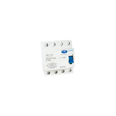 Intrerupator tetrapolar diferential 63A-500ma  Elmark