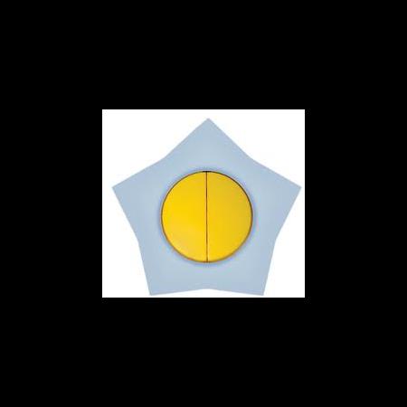 Comutator 16a galben-alb stea  Metalka Majur