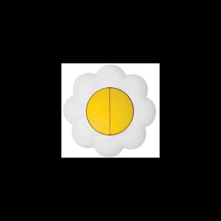 Comutator 16a galben-alb floare Metalka Majur