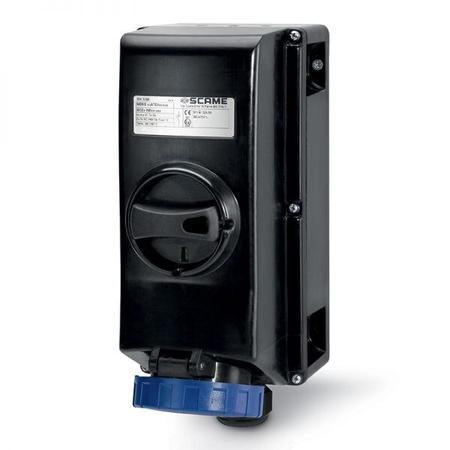 Priza Antiex 16A 2P+E 400V IP66 6H cu interblocaj  Scame