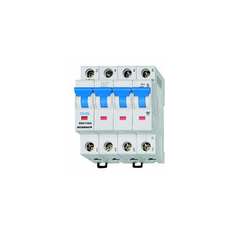 Siguranta automata tetrapolara 6A 4.5ka C Schrack Schrack