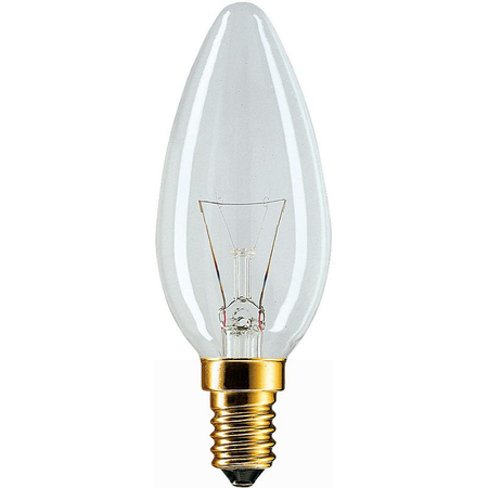 BEC INCANDESCENT - Standard 60W E14 B35 CL Philips