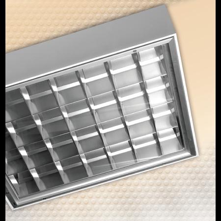 LAMPA ST AMARANTH 4 X 18 W, G13, SISTEM OPTIC LT6VTDK, BALAST ELECTRONIC, IP 65 - ALMA Almalux