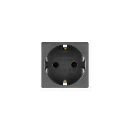 Priza schuko 250V ac - 2P+E 16A - 2 MODULE - SYSTEM BLACK Gewiss