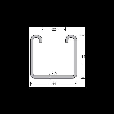 Canale neperforate dimensiunea  41x41x2.5mm, pentru Sisteme VOLTAICE Cavi