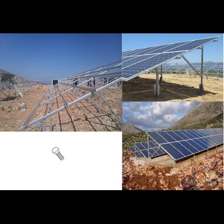 Suruburi cu cap hexagonal zincate, M6 x 30,  pentru Sisteme FOTOVOLTAICE Cavi