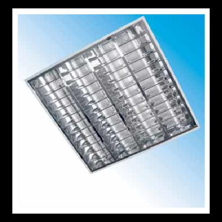 Corpuri de iluminat Fluorescente pentru Montaj Incastrat - 4X18W SP 9 lamele HF-S , FIRI 03 ICAR,  ELBA Elba