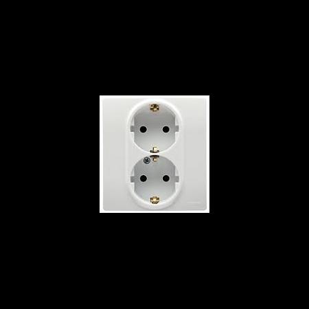 Priza schuko 2x2P+T, alba,  NILOE Legrand