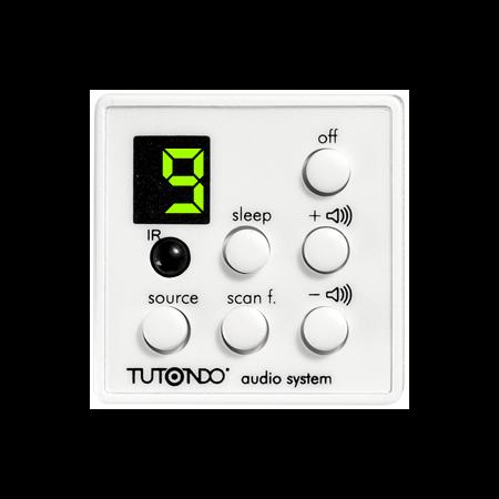 Unitate de comanda digitala cu selector de intrare, volum, On / Off, IR receptor, alba,  TUTONDO Tutondo