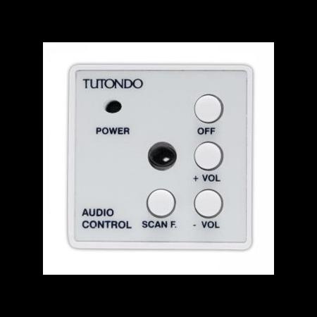 Unitate de control audio pentru o sursa de sunet stereo, negru ( gri antracit), TUTONDO Tutondo