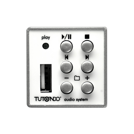 MP3 player modul cu mufa USB integrat, crom metal (argintiu),  TUTONDO Tutondo