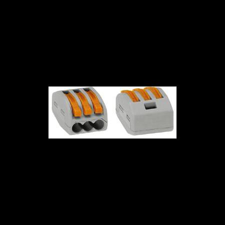 Clema rapida conexiune 3x0.08-4mmp Wago