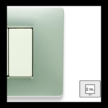 Placa ornament 3 module  gri metalizat Master MIX Master