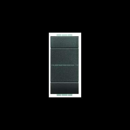 Intrerupator cruce axial , borne cu automate,16A, living light, 1 modul, antracit, BTICINO Bticino