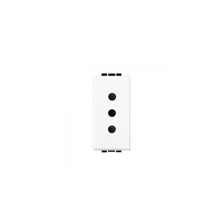 Priza standard italian de siguranta, 2 P+N, 10A, living light, alb, BTICINO Bticino