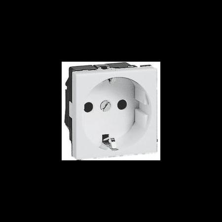 Priza simpla  schuko modul 45 ALB Cavi
