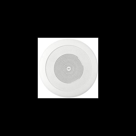 Difuzor rotund acustic pentru montaj incastrat, in tavane false,1-cale cu 80 ohmi ?i 100V transf. 24 - 12-6W, alb, TUTONDO Tutondo