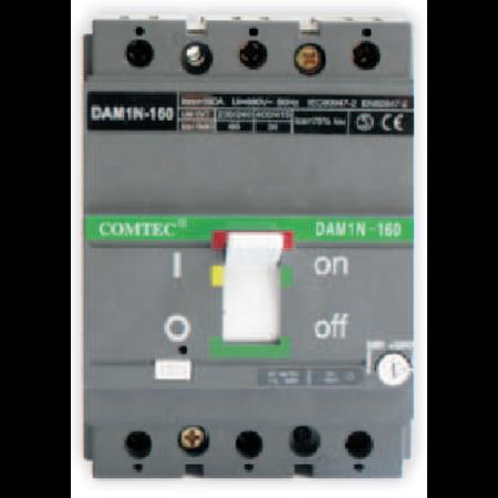 Intrerupator automat industrial tripolar, 3P, N160/ 87.5-125A,  35kA Comtec