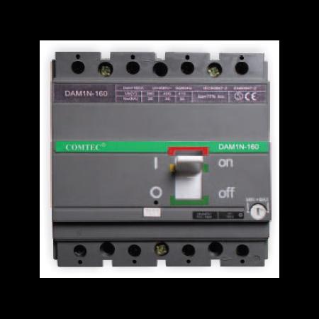 Intrerupator automat industrial tetrapolar, 3P+N, DAM 1N-160, 112-160A, 35kA Comtec