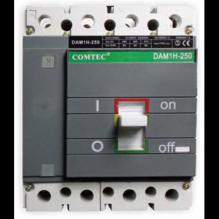 Intrerupator automat industrial tetrapolar, 3P+N, DAM 1H- 250, 140-200A, 65kA Comtec
