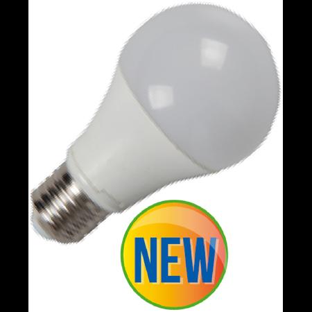 Bec cu LED-uri - 9W E27 A60 radiator aluminiu, lumina alb cald 2700k ,906 lumeni Comtec