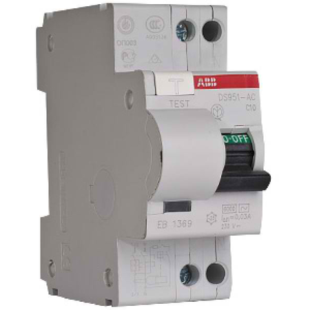 Siguranta automata bipolara cu protectie diferentiala 40A 30mA DS951 AC-C40/0,03A ABB ABB (Europe)