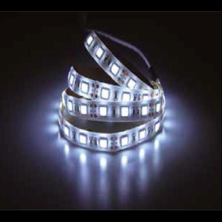 Banda LED - 60 LED-uri alb cald Non-rezistent la apa, 10W/12V, VT-5050 IP20 V-tac