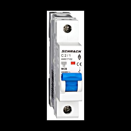 Intreruptor automat modular MCB, AMPARO 6kA, C 2A, 1-pol Schrack