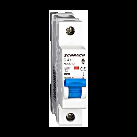 Intreruptor automat modular MCB, AMPARO 6kA, C 4A, 1-pol Schrack