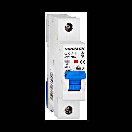 Intreruptor automat modular MCB, AMPARO 6kA, C 6A, 1-pol Schrack