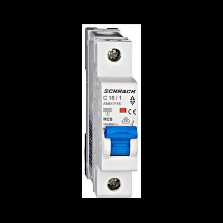 Intreruptor automat modular MCB, AMPARO 6kA, C 16A, 1-pol Schrack