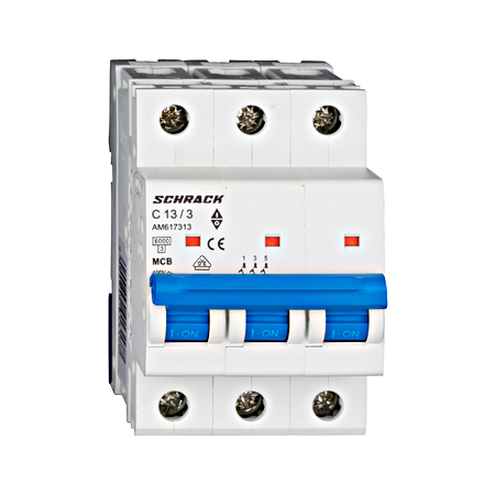 Intrerupator automat tripolar MCB, AMPARO 6kA, C 13A, 3P Schrack