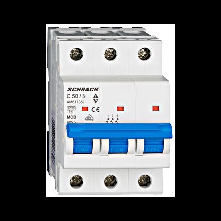 Intrerupator automat tripolar MCB, AMPARO 6kA, C 50A,  3P Schrack