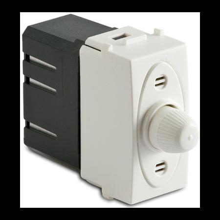 Dimmer pentru sarcina rezistiva cu buton comutator, compatibil cu filtru RFI, 100-500W/230V~ AC, alb Master