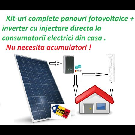 Kit complet Inverter+ panouri fotovoltaice 230v max 3.6kw Steca