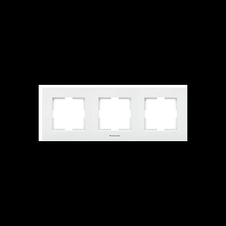 Placa ornament 3 module alb Karre plus Panasonic