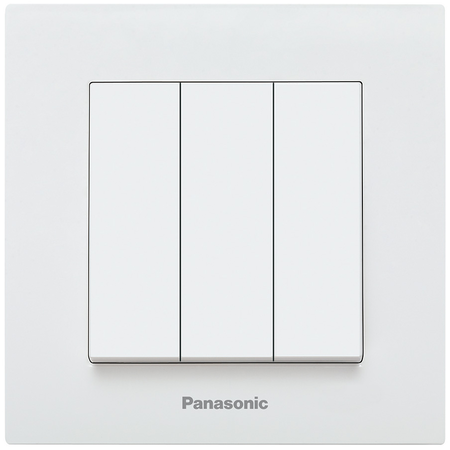 Intrerupator triplu Karre Plus Panasonic alb  Panasonic