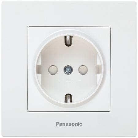 Priza schuko protectie copil Karre Plus Panasonic alb Panasonic