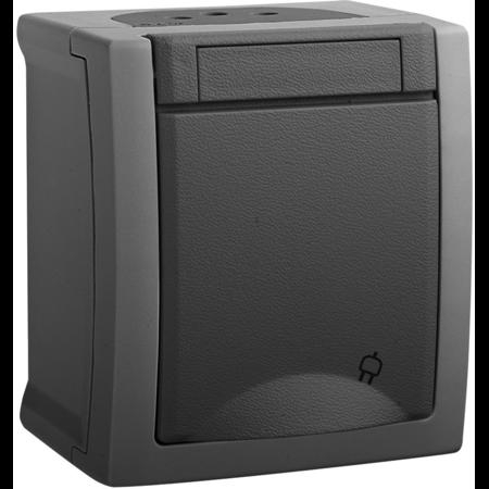 Priza schuko IP54 Pacific Panasonic gri Panasonic