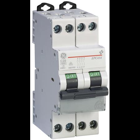 Siguranta automata tetrapolara in 2 module 32A 4.5ka curba C General Electric
